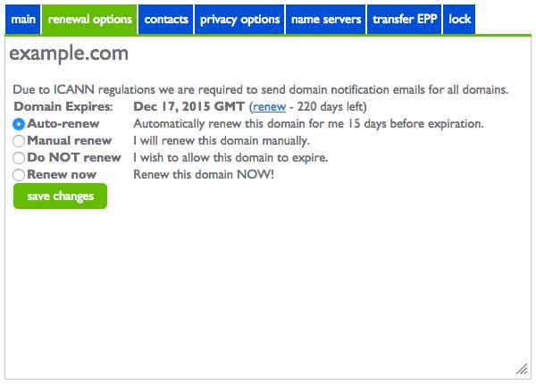 Renew Domain